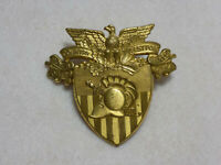 Vintage WWII Era US Army Academy West Point Shako Cap Badge Insignia