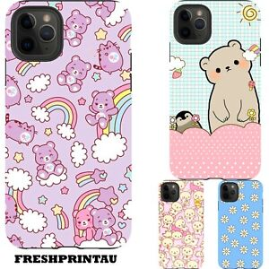 Shockproof Case Cover Fun Bears Colourful Kids Animals Rainbow Goofy Bright AUS