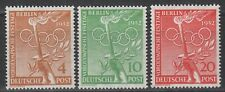 BERLINO 1952 Mi. n° 88-89-90 MNH