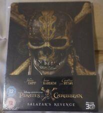 Pirates of the Caribbean Salazar's Revenge Zavvi UK BLU-RAY STEELBOOK NEW
