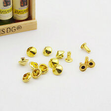 200set Metal Cone Rapid Rivets Studs Spots Nailhead Spike Bracelet Clothes DIY