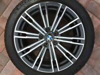 "BMW 3 SERIES G20 G21 18"" STYLE 790M FRONT 7.5J ALLOY WHEEL & TYRE 8089890 OEM #3"