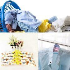 5x Anti-slip Hook Sponge Cotton Satin Padded Clothes Dress Hangers Sui Rack D4V9