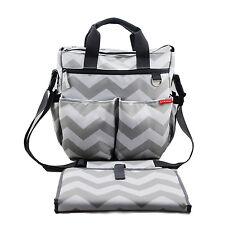 Chevron Designer Baby Changing Bags Nappy Changing Bag w/ FREE Changing Mat