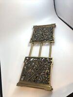Antique Art Nouveau Brass/Metal Expandable Folding Book rack Bookend
