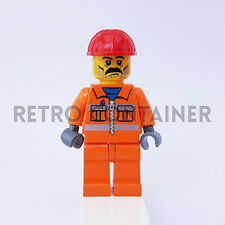 LEGO Minifigures - 1x cty010 - Construction Worker - Omino Minifig Set 7249 7344
