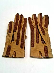 Womens Aris Isotoner Tan/Brown Padded Driving Gloves, One Size