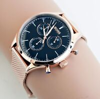 Original Hugo Boss HB1513548 COMPANION Herrenuhr Meshband Farbe: Rose Gold NEU!