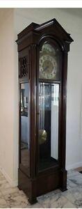 Colonial Mfg. Co. Tall Case Grandfather Clock Zeeland MI No.1390 German Movement