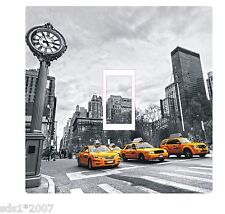 NEW YORK YELLOW CAB TAXI LIGHT SWITCH COVER STICKER DECAL HD PRINT colourful