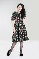 Hell Bunny Cherie 50s Dress Plus Cherrie PinUp Rockabilly X-Small - 2X-Large