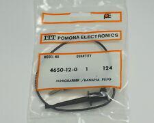 Three Black Pomona Banana Plug to MiniGrabber Test Clip 4650-12-0