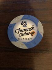 New listing $2 Chumash Casino Chip Santa Ynez California
