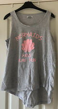 Size 16 Grey And Pink Mermaids Have More Fun Motif Vest Top By Pep & Co UGC