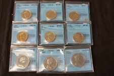 $1 Lonnie Dollar lot of 9 certified coins by CCCS 1969 1970 1985 1988 1991 2006