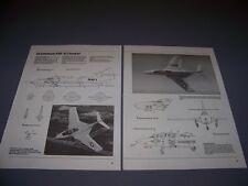 VINTAGE..GRUMMAN F9F-8 COUGAR...4-VIEWS/DETAILS/WEAPONS..RARE! (948G)
