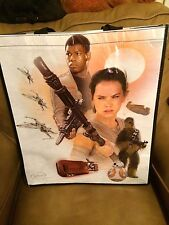 "NEW 2015 Star Wars VII FORCE AWAKENS 17""x20"" Lenticular Re-Useable Gift Bag"