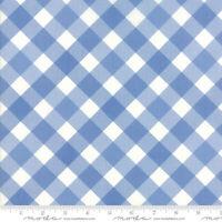 BLUE GINGHAM quilt fabric 3 yds Moda FEED SACKS TRUE BLUE retro picnic 23301-21