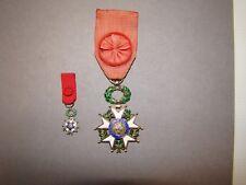 Médaille militaire, Légion d'Honneur, argent + miniature