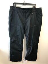 Powder Room Womens Black Insulated Snowboard Winter Ski Pants XL