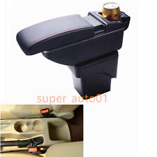 Leather Car Center Console Armrest Storage Box For Ford Focus 2007-2014