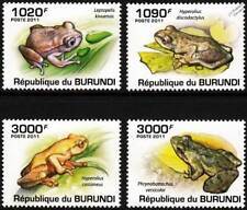 African FROGS Amphibian Animal Stamp Set (2011 Burundi)