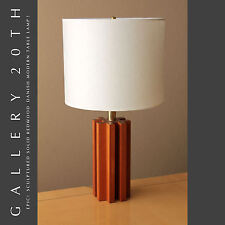 MID CENTURY DANISH MODERN SOLID REDWOOD DESK LAMP! Atomic Lighting 50s Eames Vtg