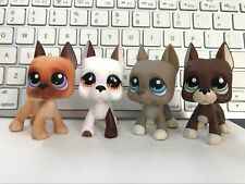 4 Lot Littlest Pet Shop Great Dane Dog #244#750#184#1519 Puppy Kid's Gifts Rare