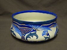 1930's Rare Art Deco Carlton Ware Handcraft Flowering Papyrus 3242 Fruit Bowl