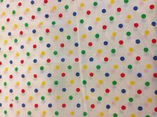Per metre of 'Multi-coloured spots' patterned fabric - PolyCotton