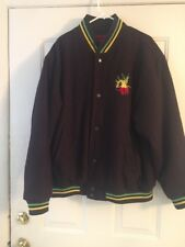 Fasade Rasta Jamacian Varsity Style Jacket Bob Marley Sz L