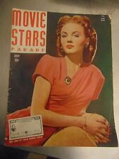 Janet Blair Roy Rogers Movie Stars Parade Magazine July 1944 #M6203