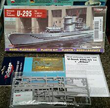 Mirage Hobby German U-Boat type IIVC/41 U-295 in 1/400. Unbuilt model in box.