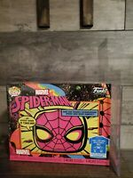 Funko Pop & T-Shirt Combo Marvel Spider-Man #652 Black Light! Size: XL *On HAND*