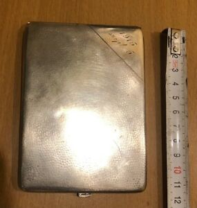 Silver Cigarette Case Germany WWI Year 1915 148 g  800 probe