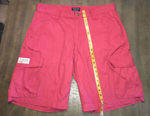 """Mens Polo Jeans Company Ralph Lauren  Cargo Shorts Size 36 Lightweight 12"""" Ins"""