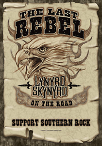 LYNYRD SKYNYRD THE LAST REBEL MUSIC FLAGS  HANGER LICENSED SILK SCREENED
