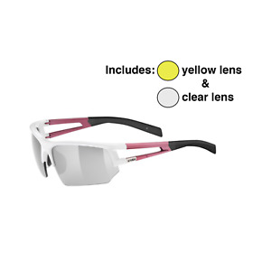 Uvex Sportstyle 110 Interchangeable Lens Glasses Set Pink/White - 2 Spare Lenses