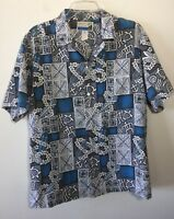Makapuu Hawaiian Shirt Aloha Vintage Surfboards Anchors Leis Turtles Men's L