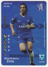 FOOTBALL CHAMPIONS Gianfranco Zola 2002-03 CHELSEA 008/105 FOIL