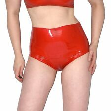 High Latex Panties Red Panty Shorts Size S-M Rubber Rubberband Crotchless