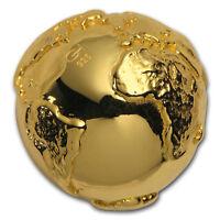 2017 Niue Silver $2 World's First 3D Globe Shape Coin - SKU#156777