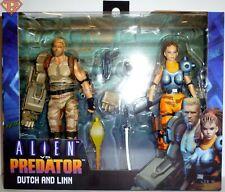 "DUTCH & LINN Alien vs Predator Arcade Series 7"" Action Figure 2-pack Neca 2019"