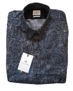 PAUL SMITH SHIRT MENS ABSTRACT PRINT Sz M (42) TAILORED FIT RRP £180 NEW W TAGS