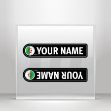 Decals Stickers Bicycle mountain bike name flag Algeria Vehicle A19 3X764