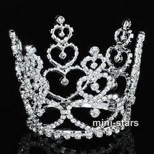 sposa matrimonio CUORE SPOSA/Damigella Strass Mini Tiara corona T1708