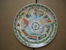 Williams Sonoma Chemin de Fer Paris Round Plate Scene Train Station