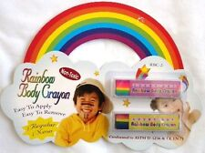 Rainbow Color Face & Body Crayon Fun Make up Stick *i* Child Activites Gift �