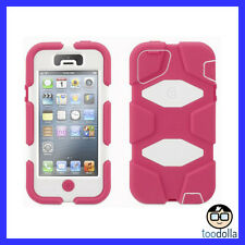 GRIFFIN Survivor Extreme Heavy Duty Tough Case, Apple iPhone 5/5s, Pink/White