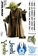 Star Wars Wandsticker Jedi-Meister Yoda ca. 66 cm x  41,5 cm selbstklebend